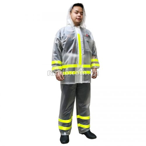 Bộ áo mưa trong màu phản quang RANDO