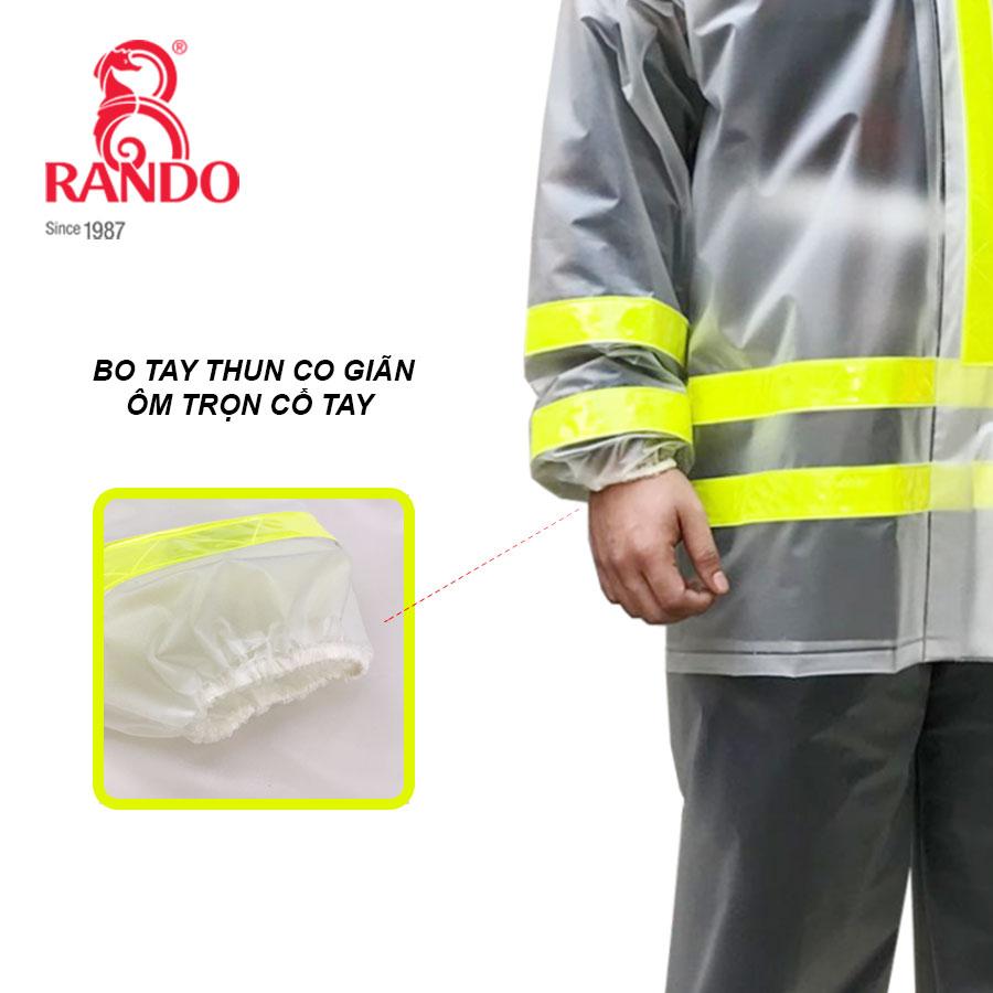 Bo tay bộ áo mưa trong màu phản quang RANDO