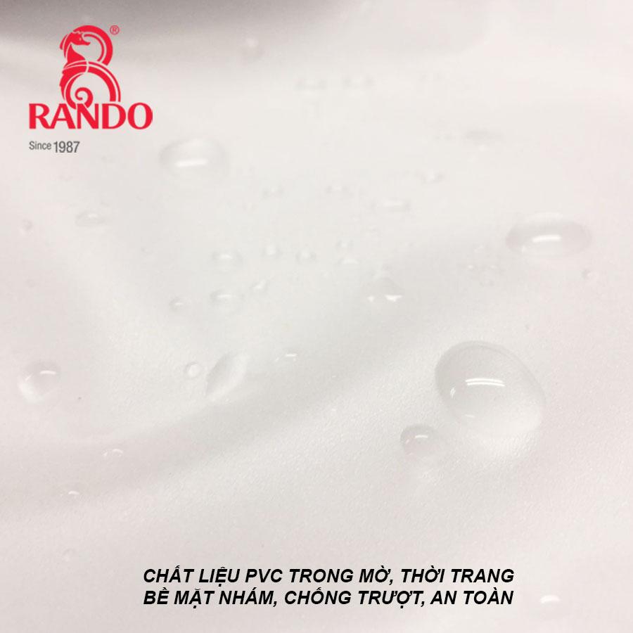 Chất liệu bộ áo mưa trong màu phản quang RANDO